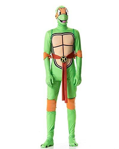Turtle Orange Kostüm Ninja - ZSDFGH Ninja Turtles Kostim Erwachsene/Ninja Kostüm/Ninja Turtles Kostüm/Fasching Overall,Orange-XL