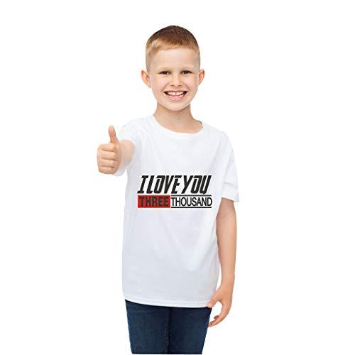 Knowin Kinder Kurzarm Briefe lieben Druck lieben Sie dreitausend Mal T-Shirt I Love You 3000 Times Brief gedruckt T-Shirt Tops Kleidung Männer Superhelden Serie Party Shirt Joging Party