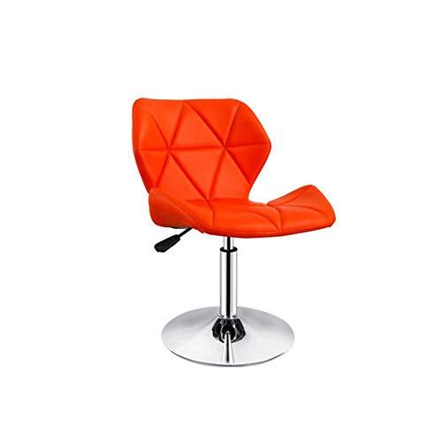 Cxjff Moderne Esszimmerstühle - Drehstuhl - Tretstuhl for Zuhause/Hotel/Computer/Hoher Fuß/Bar/Restaurant Gelb 38x38x89CM Geeignet for Wohnzimmer, Schlafzimmer und Küche (Color : Orange)