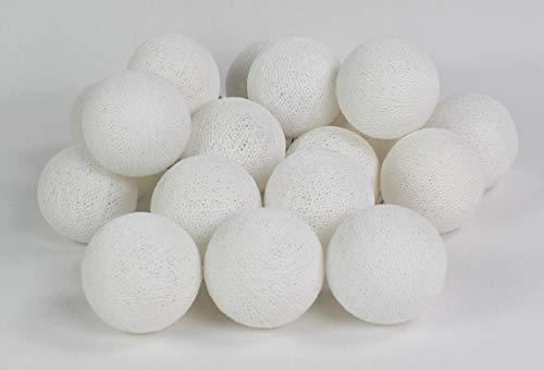 Cotton Ball Lights Weiß 10 Lichterkette, Baumwolle