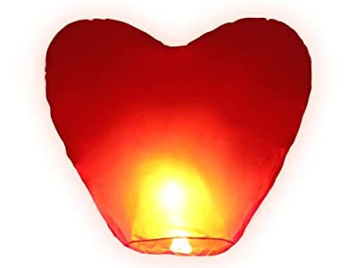 riesiges Herz zum Hochzeitstag HIMMELSLATERNE BALLON SKYLATERNE von Skyballon auf Du und dein Garten