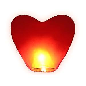 riesiges Herz zum Hochzeitstag HIMMELSLATERNE BALLON SKYLATERNE, schneller Versand aus Deutschland