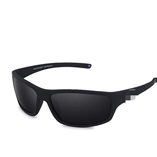 LAOBIAOZI Optische Marke Design New Polarisierte Sonnenbrille Männer Mode Männlichen Brillen Sonnenbrille Reise Angeln Oculos (Lenses Color : C02 Matte Black Smok)