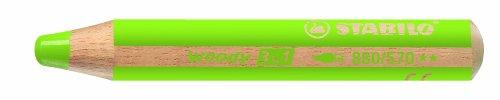 Stabilo Multitalentstift Woody 3 In 1, Rund, Hellgrün