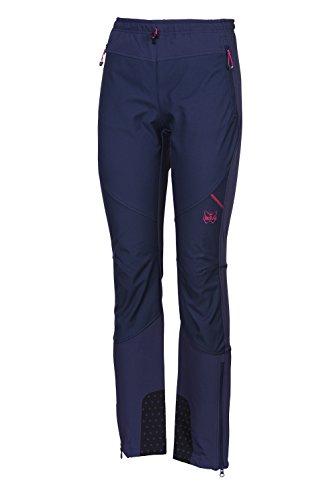 Mello's Damen Hose Ripid Speed Evo, Bleifarbe, Größe 46, Softshell-Hose Winddicht geeignet für Skitouren Trekking Mountain Wandern