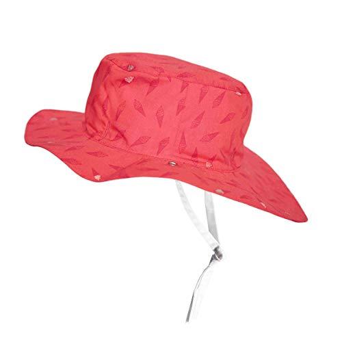 Ki ET LA Gorro Reversible 100% Anti UV Chapeau De Cowboy, Rose/Ice Kream, 52-54 cm Bébé garçon