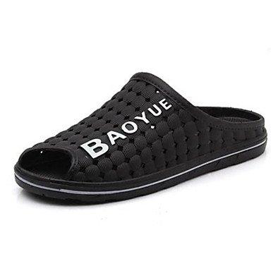 Slippers & amp da uomo;Comfort Gomma Molla casuale Marrone Blu Nero Piatto, Marrone Sanda sandali Black