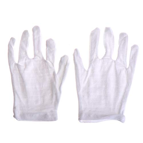 Longsw Kids Fun Express Weiße Etikette Aus Polyester Kindergröße Performance-Kostümhandschuhe