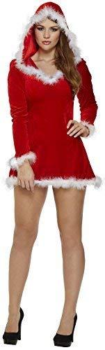 Miss Sexy Claus Kostüm - Damen Sexy Santa Miss Claus Weihnachtsmann Festlich Spaß Kostüm Kleid Outfit