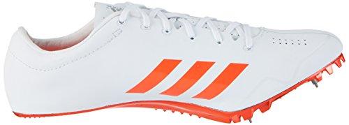 adidas Adizero Prime Sprint, Chaussures d'Athlétisme Mixte Adulte, Mehrfarbig Blanc (Ftwr White/solar Red/silver Metallic)
