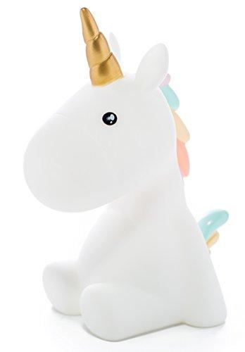 Unicorno Pastel Night Light, luce LED, colori morbidi, favole, magico, lampada da notte per bambini, lampada da nido d'infanzia Lampada da camera con timer