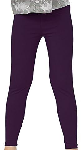 Kinder / Mädchen Thermo Winter Leggings aus Baumwolle AME (98, Dunkelviolett)
