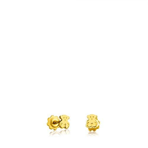 TOUS Pendientes de botón Niña y Baby de oro amarillo18 kt, Cierre