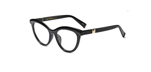 Zokra TM Mode Frauen rote Katzenaugen-Glas-Rahmen-Marken-Entwerfer Weibliche Brillen optische Brillenfassungen Frauen Brillengestell Oculos [schwarz]