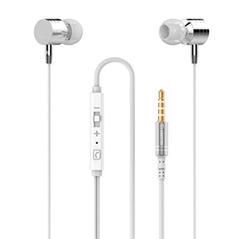 Rcool In Ear Kopfhörer Ohrhörer Ohrhörer Kontrolle Mic Kopfhörer für Handy Silber