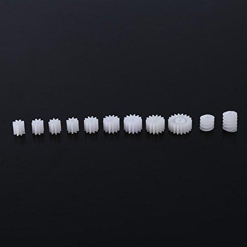 11 Stücke Kunststoff Spindel Schneckengetriebe für Flugzeug Auto Lkw Modell Roboter Motorwelle