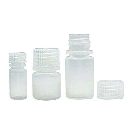 12 Pcs vides Bouteilles en plastique blanc avec bouchon à vis gros Boston Round Bottle Refillabe bouteilles d'huiles essentielles 4 ml
