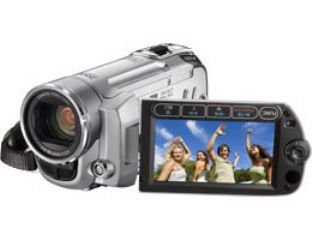 Canon FS10 Camcorder (HDD/SD Hybrid, 8 GB, 45-fach opt. Zoom, 6,9 cm (2,7 Zoll) Display)