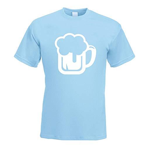 Kiwistar Bierkrug Bierfass Trinken Glas T-Shirt Motiv Bedruckt Funshirt Design Print