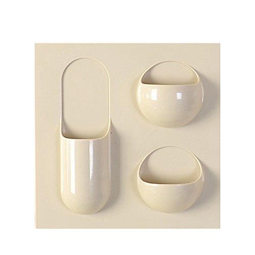 Wandhalterung Toilettenpapierhalter, Badezimmer Tissue Halter mit Handy-Ablage, Wischtücher Halter 22x22cm Khaki 2 Rahmen