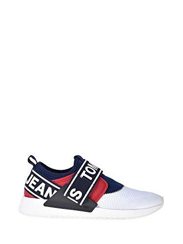 Tommy Jeans Herren Flexi Sneaker Sneaker Größe 44 EU Weiß (Weiss) -