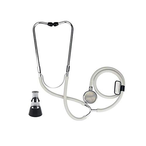 Ftaosh Estetoscopio Doble De Doble Cabeza, Estetoscopio Multifunción para Respiración Cardiopulmonar...