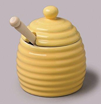 Honey Pot With Wooden Dipper by WM Bartleet & Sons