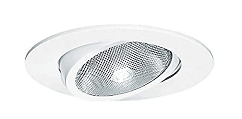 Juno Lighting Group 209N-WH Gimbal Ring with Flat Trim 5-Inch Adjustable Recessed Trim, White Finish by Juno Lighting Group