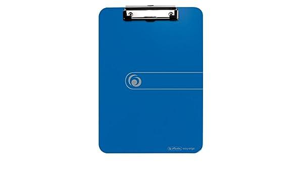 herlitz Klemmbrett easy orga to go 6, Opak Blau Verschiedene Farben zur Auswahl DIN A4