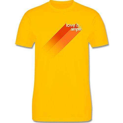 Romantisch - Love is simple - Herren Premium T-Shirt Gelb