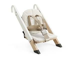 stokke coussin rayures beige pour chaise portable handysitt b b s pu riculture. Black Bedroom Furniture Sets. Home Design Ideas
