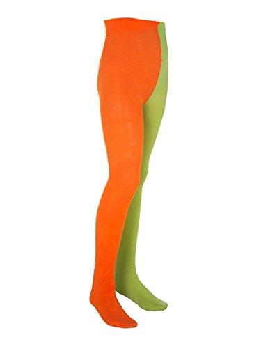nder-Strumpfhose Lizenzware orange-grün 98/116 (3-6 Jahre) (Pippi-langstrumpf-halloween-kostüme)