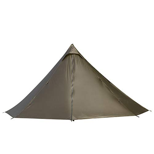 OneTigris | Black Orca Chimney Tipi Zelt mit Herd Loch, 2 Personen Smokey Hut Zelt für Trekking Camping Outdoor Doppeltes Shelter Wasserdicht |MEHRWEG Verpackung