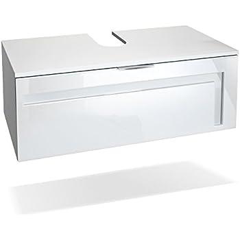 Waschtischunterschrank 100 cm breit holzedekor-weiß
