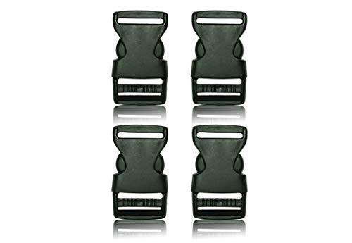 Schnalle- Double Side Release Schnallen Clips- Steckverschluss 4X25MM - Steckverschluss, Kunststoff Klickverschluss, Klippverschluss, Steckschnalle, Ersatzschnalle, Klippverschlüsse für Rucksack -