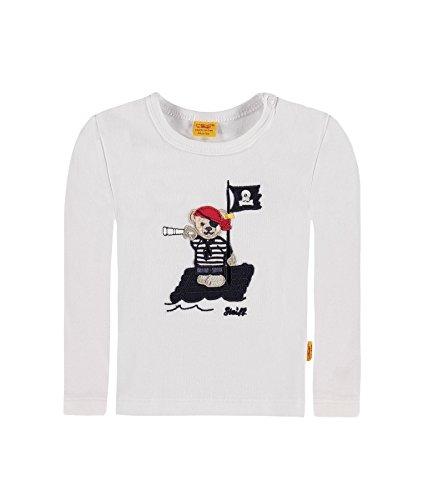 Steiff Baby-Jungen T-Shirt 1/1 Arm 6712511, Weiß (bright White 1000), Gr. (Jungen Shirt Piraten)