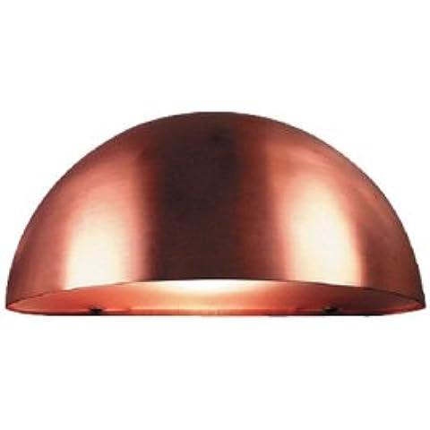 LVG 21751030 - Lampada a parete in rame, 1 x E27 60W (A 60), IP 23, 13,5 x 27 x 13,5 cm