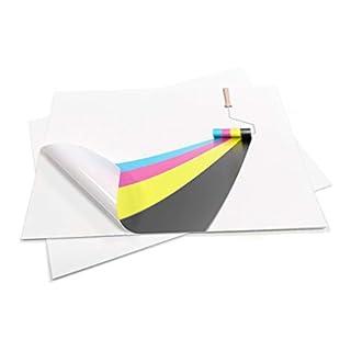10 Sheets Premium Waterproof A4 Vinyl (PVC) Matte White Self Adhesive Sticker Sheets Quality Inkjet Laser Printable