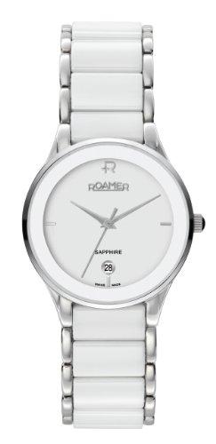 ROAMER OF SWITZERLAND 677981 41 25 60 - Reloj de Pulsera Mujer, Cerámica, Color Blanco