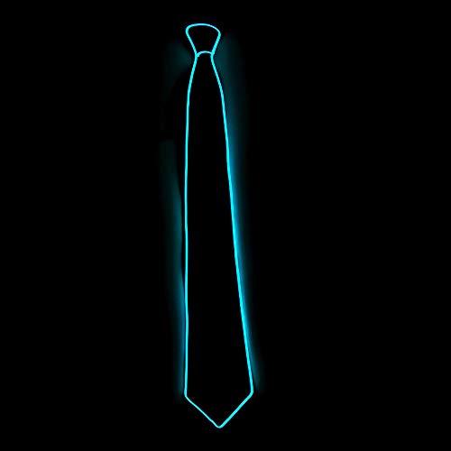 ALIKEEY Halloween Light Up Neck LED Krawatte für Männer Neuheit Krawatte für Rave Party Burning ()