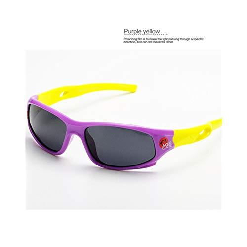 Vikimen Sportbrillen, Angeln Golfbrille,Cute Baby Polarisiert Sunglasses Kids Child Girls Boys Sport Goggles TR90 Polaroid Sun Glasses Shades Infant Oculos S816 White