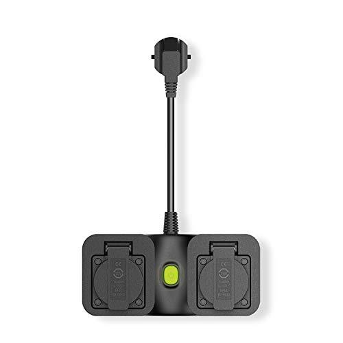 Smart-Steckdose-außen wlan-Steckdose-aussenbereich, meross außensteckdose Stromverteiler intelligente Steckdose outdoor mit App Fernsteuerung, kompatibel mit Alexa, Google Home und IFTTT