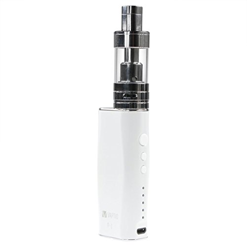 Riccardo P1 Top Filling 50 W Kit 2100 mAh mit PT1 Top Filling Clearomizer 3ml, 0.0 mg Nikotin, Vaptio e-Zigarette, weiß/silber, 1 Stück