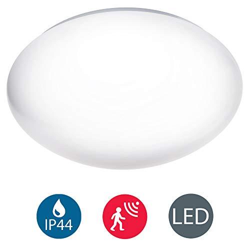 LED Deckenleuchte mit Radar-Bewegungssensor, Badezimmer geeignet, Bewegungsmelder, Außenbeleuchtung, Opalglas, IP44