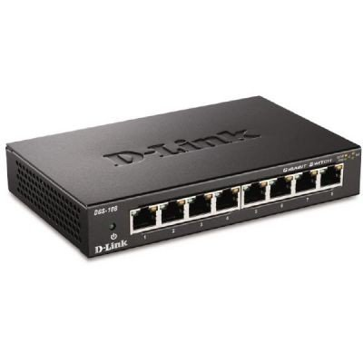 D-Link DGS-108 8-Port Desktop Gigabit Switch
