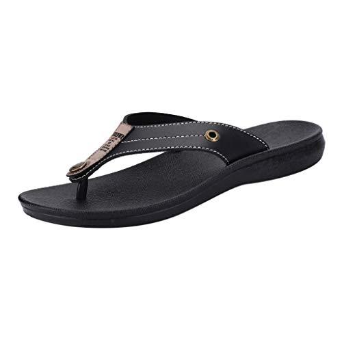 Jiameng Mode Für Männer Casual Wohnungen Plattform Flip Flops Rutschfeste Männer Hausschuhe Strandschuhe ()