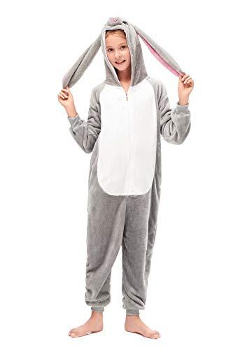 Cosleeply Kinder Onesie Flanell Kinder Pyjama Overall für Kinder Ribit Onesies