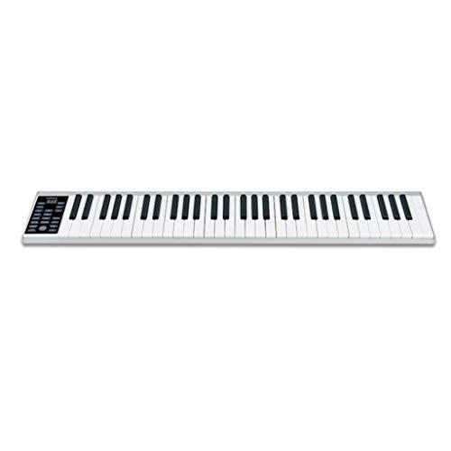 LINGLING-Tastatur Keyboard Test Hand Roll Piano Erwachsene Anfänger Musik Training Geburtstagsgeschenk (Farbe : Silber)