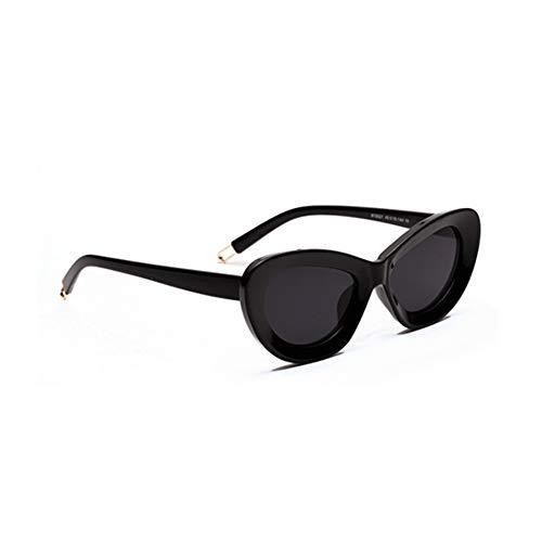 SUNNYJ Sonnenbrille Frauen Cat Eye Sonnenbrille Große Breite Rahmen Retro Sonnenbrille Damen Einzigartige Elegante Eyewear Mädchen Mode Transparent 69 C1