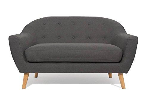 Sofa-skandinavischen-utmrkt-2-Sitzer-Grau-Graphit